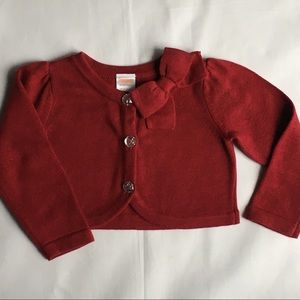Girls sweater red 18 24 months Christmas now EUC